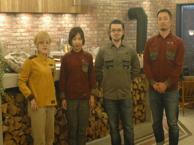 The Hotel Unwind staff in their custom Pendleton wool shirts.