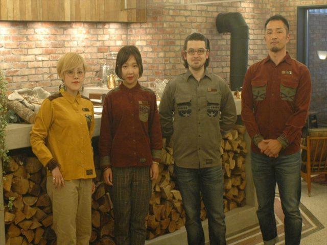 The Hotel Unwind staff in their custom Pendleton wool shirts.