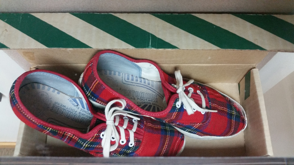 Top view of original Vans x Pendleton collaboration from the 1970s