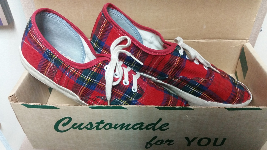 Side view of original Vans x Pendleton collaboration from the 1970s