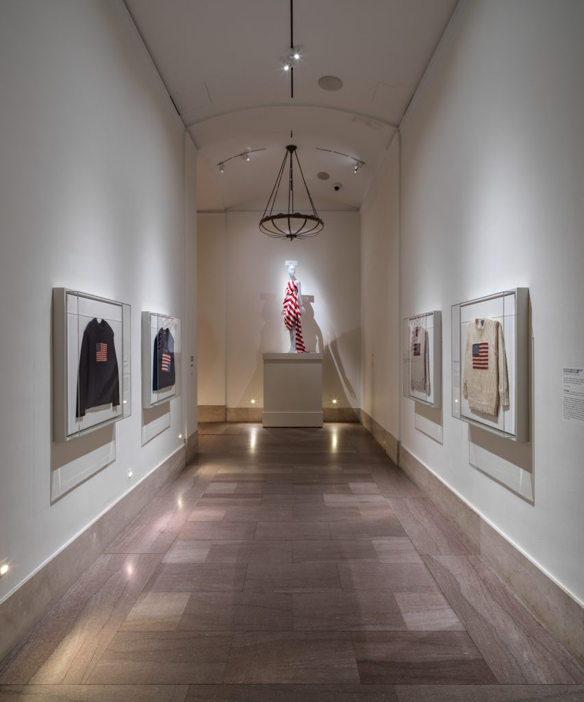 Hallway leading to the American Style exhibit at the Met Costume Institute, photo courtesy Artnet
