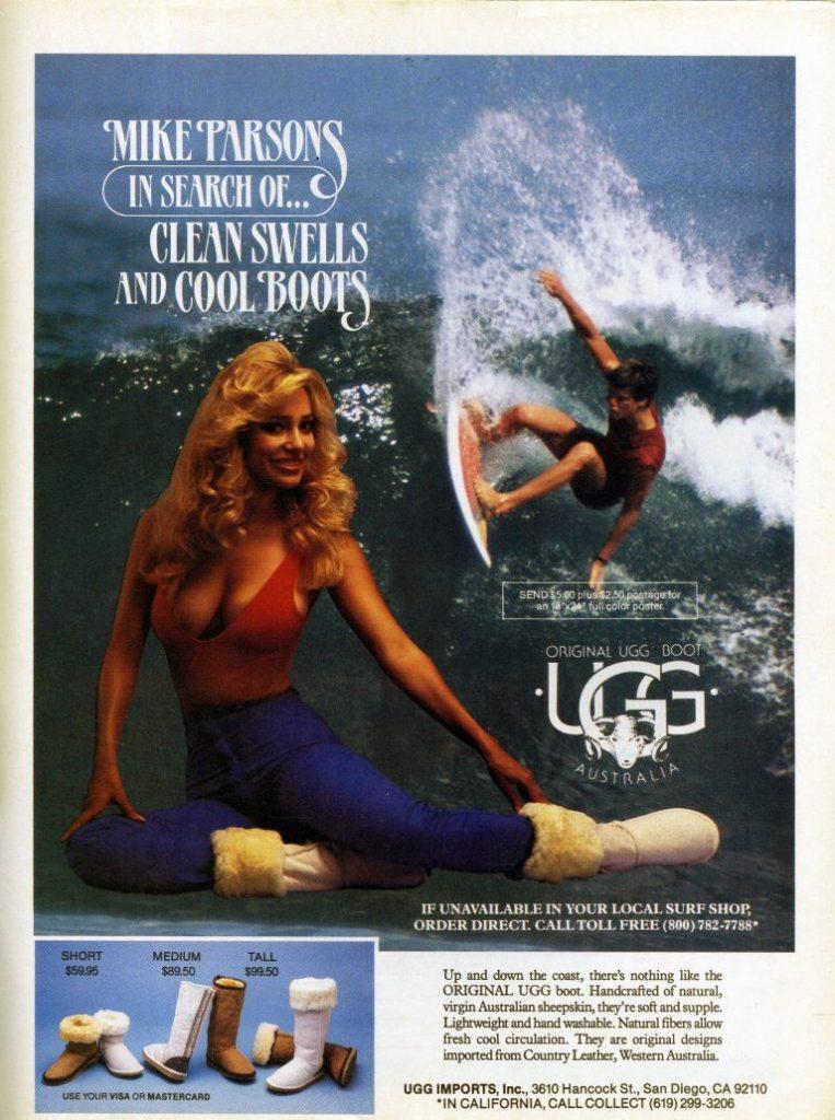 Vintage ad for UGG Australia